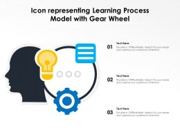 Icon Representing Learning Process Model With Gear Wheel