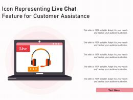 Icon Representing Live Chat Feature For Customer Assistance
