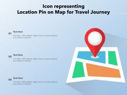 Icon Representing Location Pin On Map For Travel Journey
