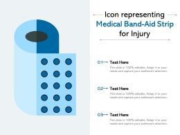 Icon Representing Medical Bandaid Strip For Injury