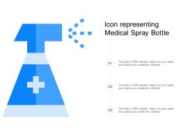Icon Representing Medical Spray Bottle