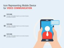 Icon Representing Mobile Device For Video Communication
