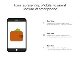 Icon Representing Mobile Payment Feature Of Smartphone