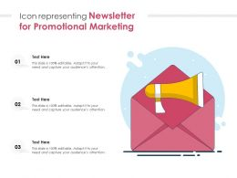 Icon Representing Newsletter For Promotional Marketing