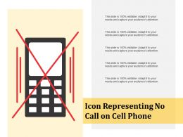 Icon Representing No Call On Cell Phone