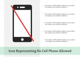 Icon Representing No Cell Phone Allowed