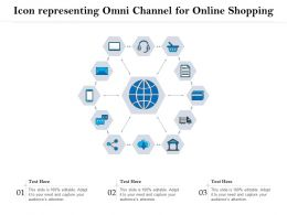 Icon Representing Omni Channel For Online Shopping