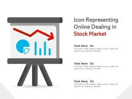 Icon Representing Online Dealing In Stock Market