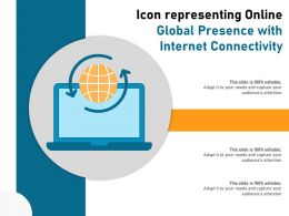 Icon Representing Online Global Presence With Internet Connectivity