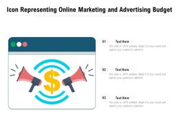 Icon Representing Online Marketing And Advertising Budget