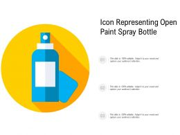 Icon Representing Open Paint Spray Bottle