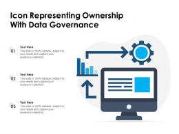 Icon Representing Ownership With Data Governance