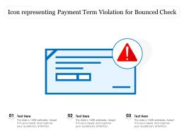 Icon Representing Payment Term Violation For Bounced Check