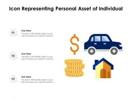 Icon Representing Personal Asset Of Individual