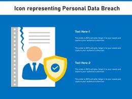 Icon Representing Personal Data Breach