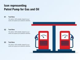 Icon Representing Petrol Pump For Gas And Oil