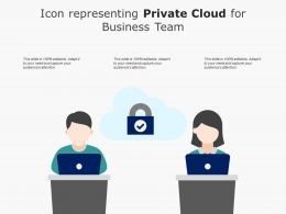 Icon Representing Private Cloud For Business Team
