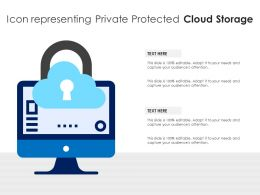 Icon Representing Private Protected Cloud Storage
