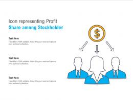 Icon Representing Profit Share Among Stockholder