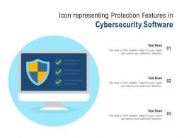 Icon Representing Protection Features In Cybersecurity Software