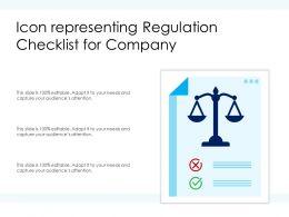 Icon Representing Regulation Checklist For Company