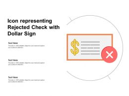 Icon Representing Rejected Check With Dollar Sign
