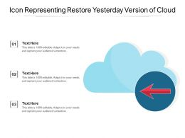 Icon Representing Restore Yesterday Version Of Cloud