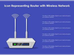 Icon Representing Router With Wireless Network