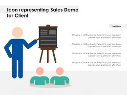 Icon Representing Sales Demo For Client