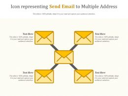 Icon Representing Send Email To Multiple Address