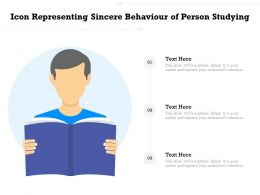 Icon Representing Sincere Behaviour Of Person Studying