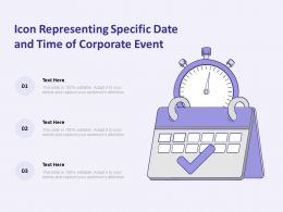 Icon Representing Specific Date And Time Of Corporate Event