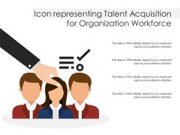 Icon Representing Talent Acquisition For Organization Workforce
