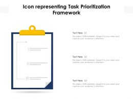 Icon Representing Task Prioritization Framework