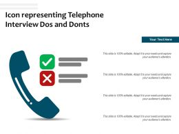 Icon Representing Telephone Interview Dos And Donts