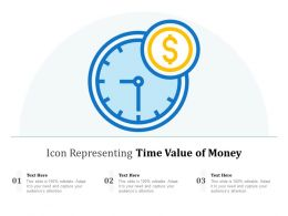 Icon Representing Time Value Of Money