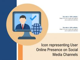 Icon Representing User Online Presence On Social Media Channels