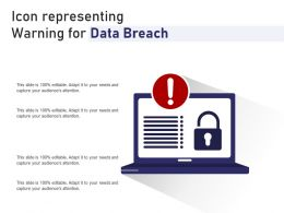 Icon Representing Warning For Data Breach