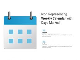Icon Representing Weekly Calendar With Days Marked
