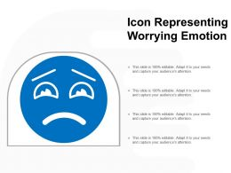 Icon Representing Worrying Emotion