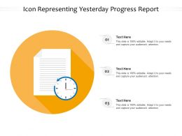 Icon Representing Yesterday Progress Report