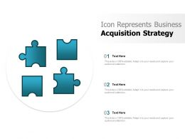 Icon Represents Business Acquisition Strategy