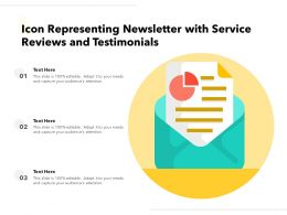 Icon Represnting Newsletter With Service Reviews And Testimonials