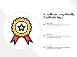 Icon Showcasing Quality Certificate Logo