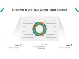Icon Showing 14 Step Circular Business Process Infographic