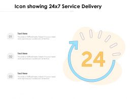 Icon Showing 24x7 Service Delivery