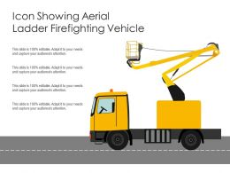 Icon Showing Aerial Ladder Firefighting Vehicle