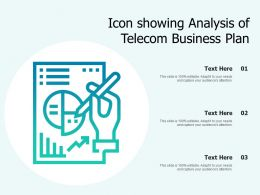Icon Showing Analysis Of Telecom Business Plan