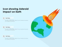 Icon Showing Asteroid Impact On Earth