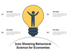 Icon Showing Behavioral Science For Economies